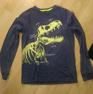 T rex long sleeve boys large cat and jack